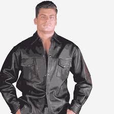leather shirt men