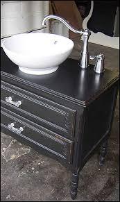 black bath vanities