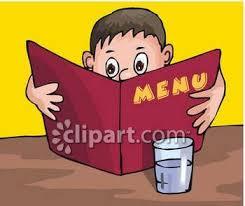 clip art menus