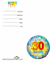 30th party invitations