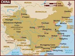 maps on china