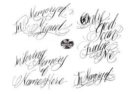tattoo letters designs