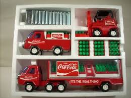 coca cola toy trucks