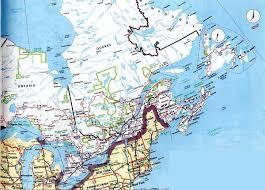 east canada map