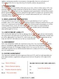 example agreement