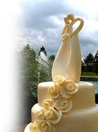 contemporary wedding cake toppers
