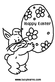easter bunny picture to color