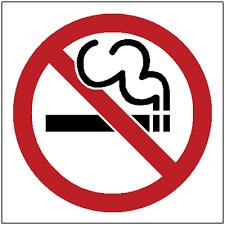 not smoking signs
