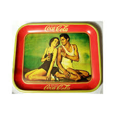 coca cola serving trays