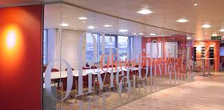 glass wall office