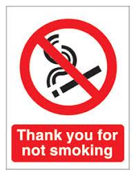 thankyou for not smoking