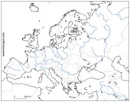 blank europe maps