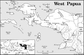 map of west papua