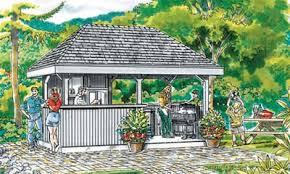 pool house cabanas