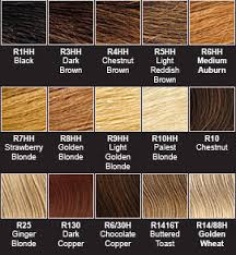 hair dye colour chart