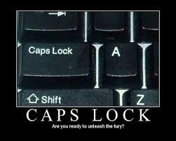 caps lock button