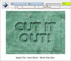 beveled cut