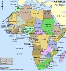 continent of africa map