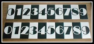 art deco numbers
