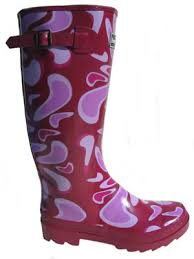 pink wellingtons
