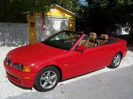 bmw red convertible