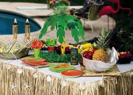 hawaiian table decoration