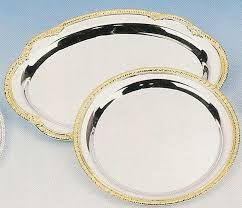gold serving trays