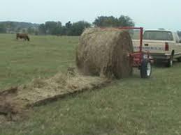 round bale unroller