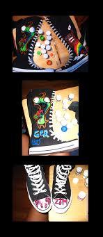 black knee high converse