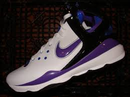 purple basketball sneakers