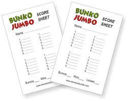 bunco score pads