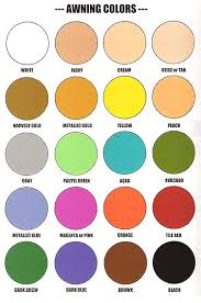 awning colors