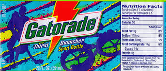 gatorade label