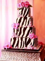 Birthday Cake with Zebra and Hot Pink Show