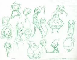 sketches of elves