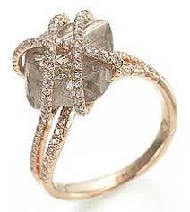 raw diamond engagement rings