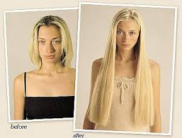 before and after photos of hair extensions