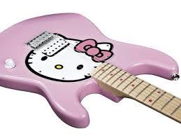hello kitty pink guitar