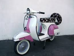 pink vespa scooters