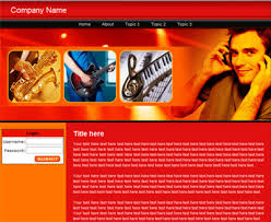 music web template