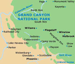 grand canyon on the map
