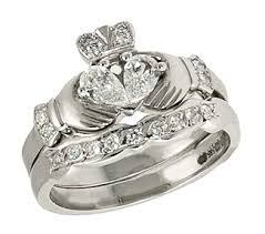 claddagh wedding ring set