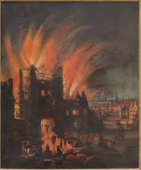 pictures of the great fire of london