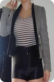 striped leotard