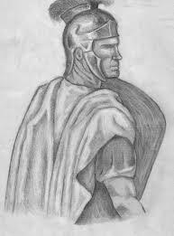 drawings of roman soldiers