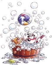 cartoon bubble bath