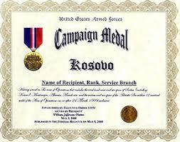 kosovo medals