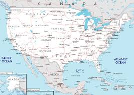 road map of the us