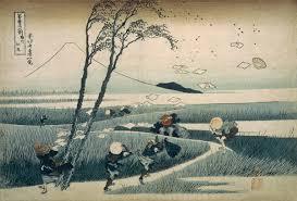 hokusai woodcut