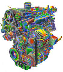 engine painting